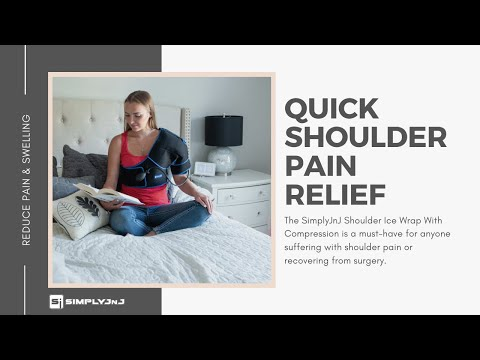 SimplyJnJ Shoulder Ice Wrap With Compression - Product Demonstration & Instructions