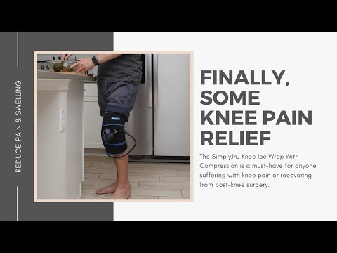 Cold Therapy Knee Ice Wrap With Compression by SimplyJnJ - Product Demonstration