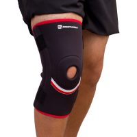 SimplyJnJ Open Patella Knee Sleeve w Flexible Side Stabilizer Stays and Removable Straps