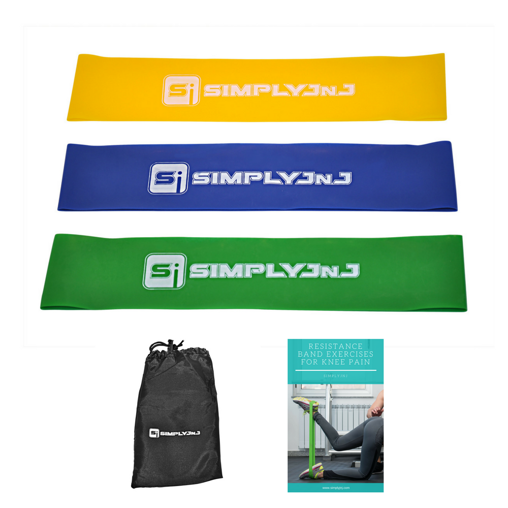 SimplyJnJ Resistance Loop Bands With Bonus eBook With Exercises For Knee Pain - Combo