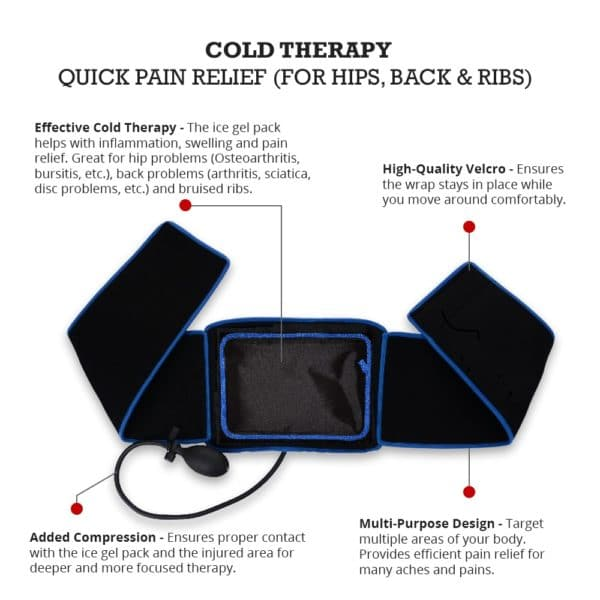 Cold Therapy Wrap for Back, Hips and Ribs