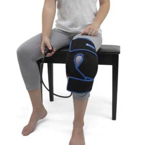 Ice Knee Wrap - SimplyJnJ Cold Therapy Knee Wrap With Ice & Compression & 2 Ice Gel Packs