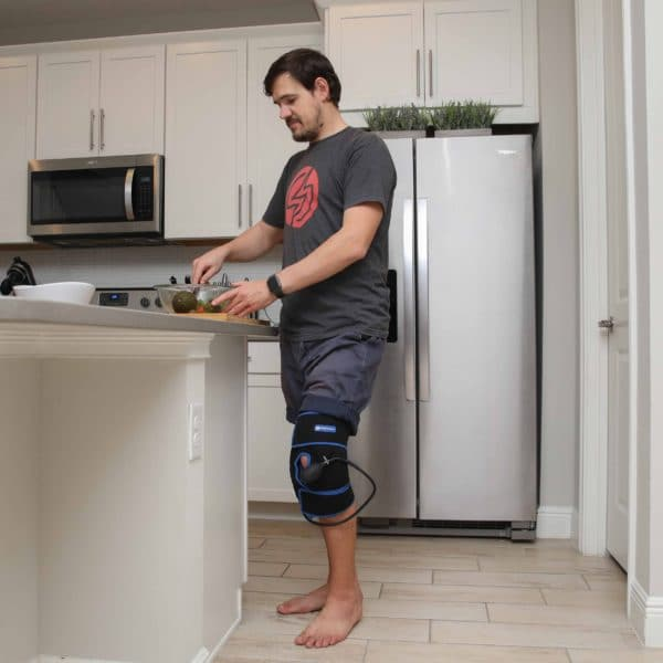 SimplyJnJ Cold Compression Knee Wrap - Great for Knee Pain, Meniscus Tears, Surgery Recovery & More.