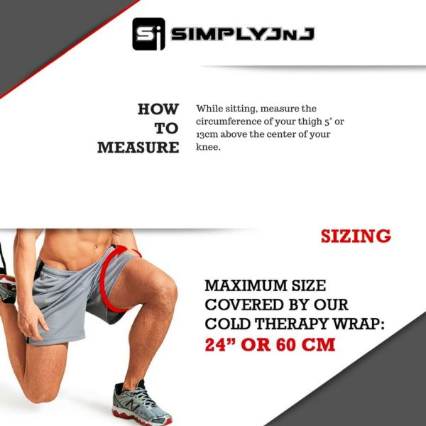 Sizing Chart for SimplyJnJ's Cold Therapy Knee Cold Therapy Wrap