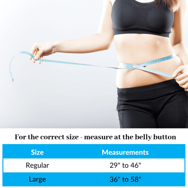 Ice Wrap for Hips, Back and Ribs - Measurements Chart - By SimplyJnJ