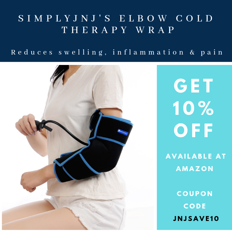 SimplyJnJ Elbow Cold Therapy Ice Pack Wrap