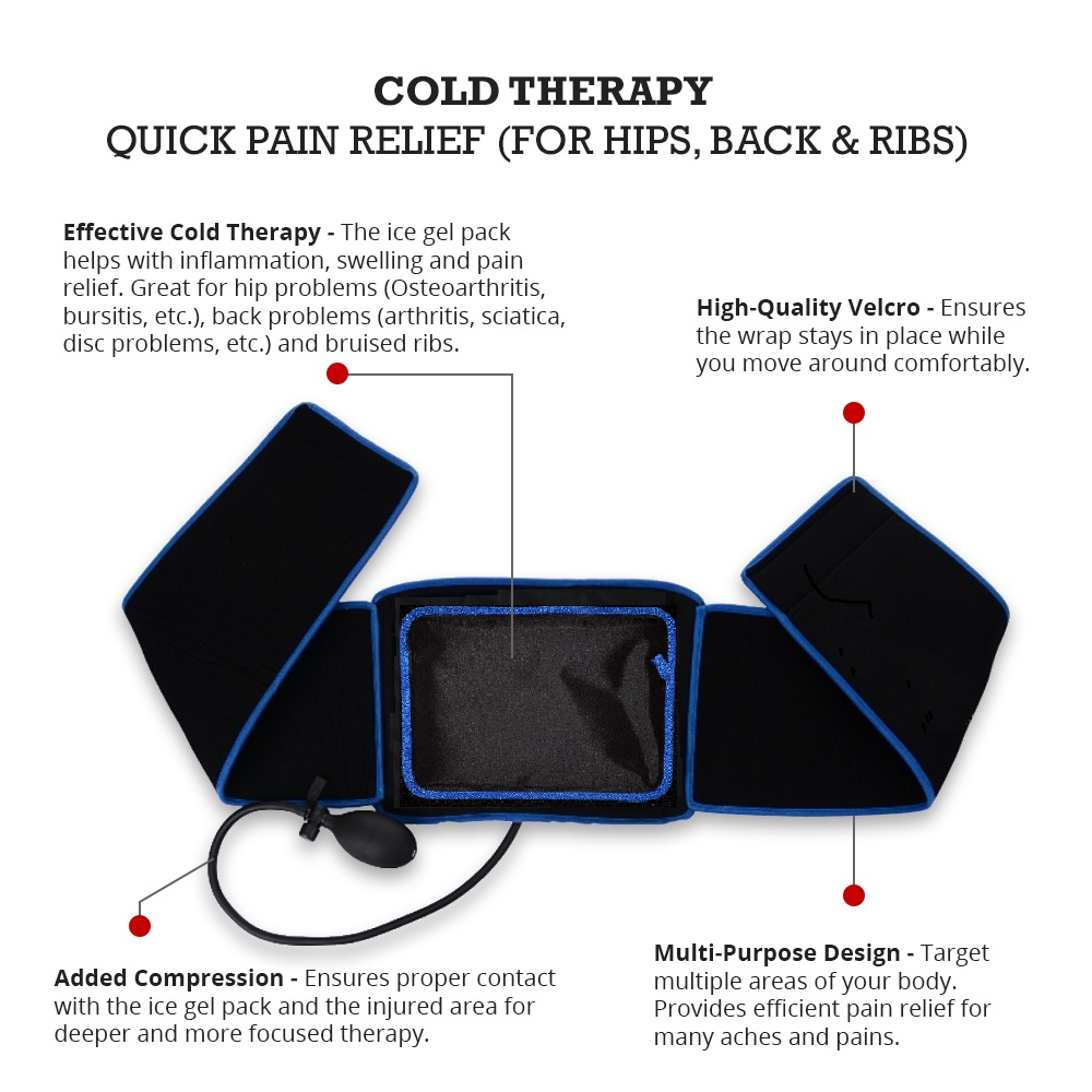 Cold Therapy Wrap for Back, Hips and Ribs - Infographics