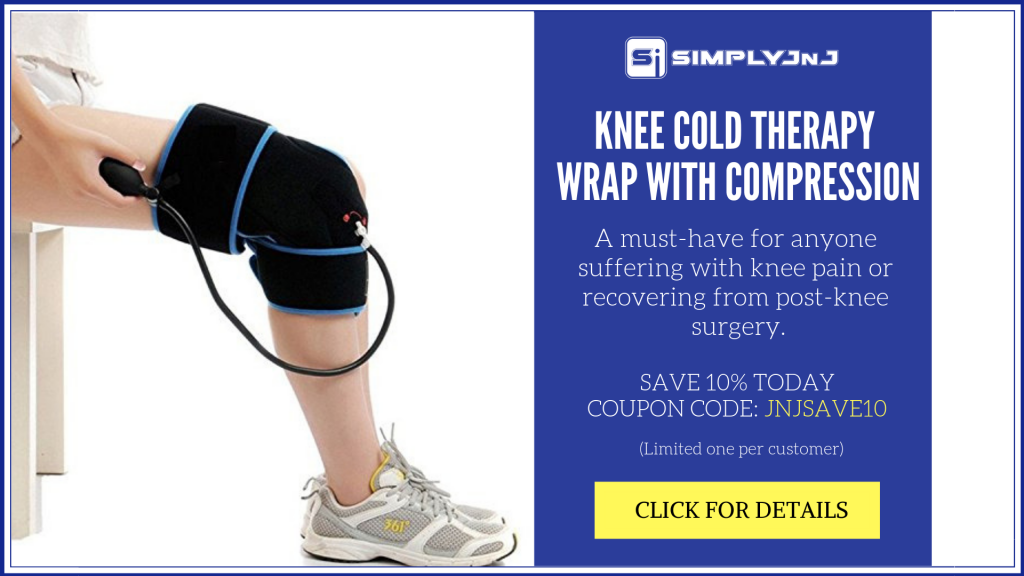 SimplyJnJ Knee Cold Therapy Wrap Banner - JNJ