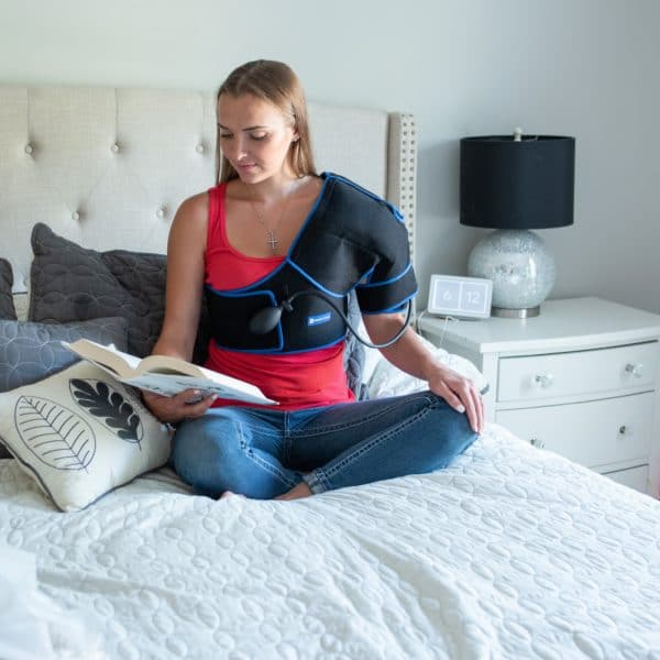SimplyJnJ Shoulder Pain & Recovery Ice Wrap With Compression - Front View