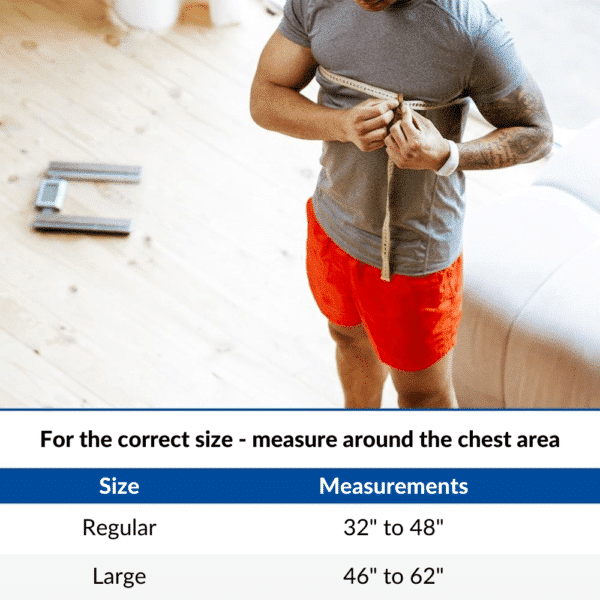 Ice Wrap with Compression For Shoulder Pain & Surgery Recovery - Measurements Chart