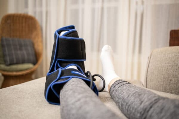 Foot & Ankle Ice Pack Wrap with Compression and 2 Gel Packs - Great for Ankle and Foot Pain Relief, Surgery Recovery and More - by SimplyJnJ
