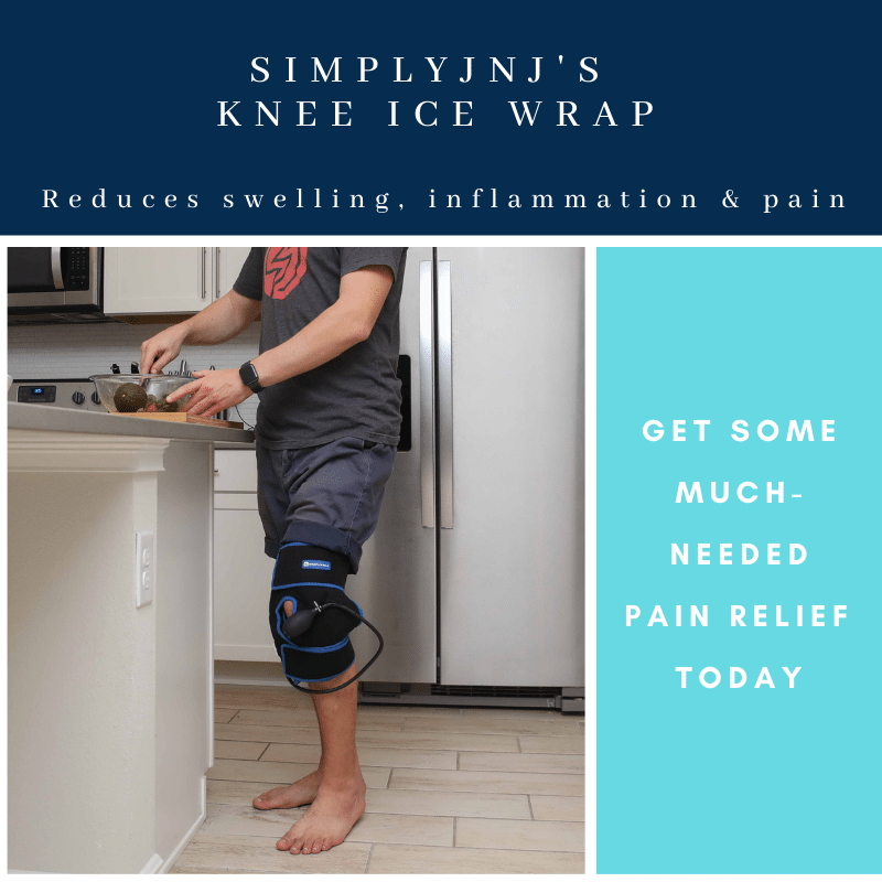 SimplyJnJ Knee Ice Wrap With Compression - Promo